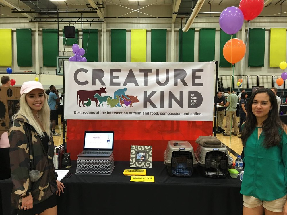 Students and staff at Southern Adventist University formed a CreatureKind student group in 2016.