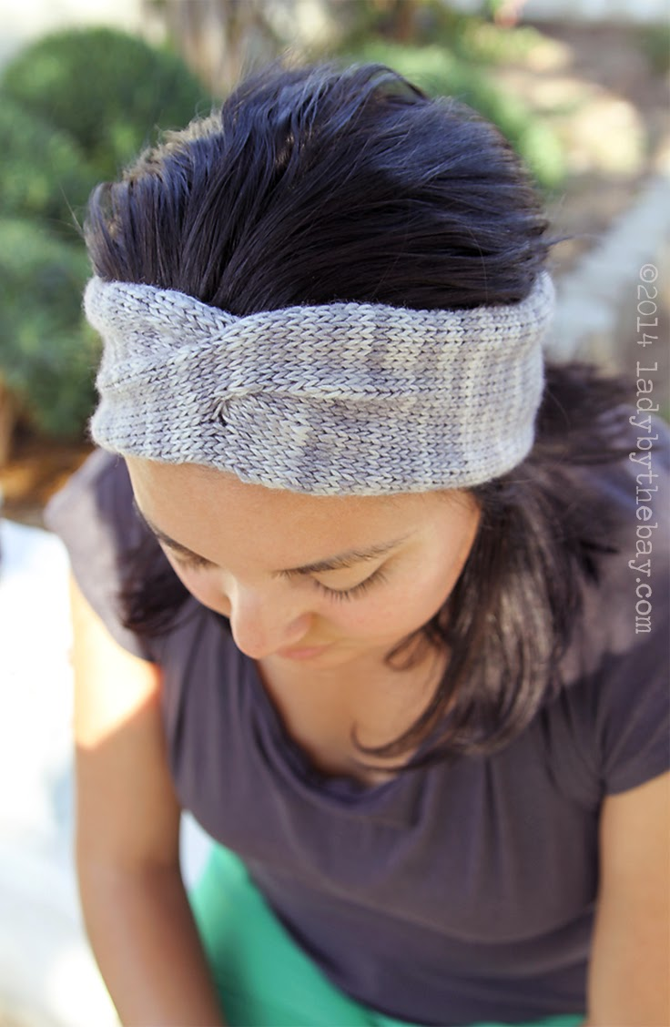 Lady by the Bay-Twisted Headband Knitting Pattern
