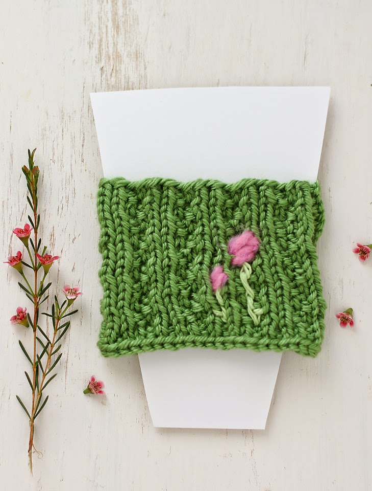 Lady by the Bay - Knitted Coffee Cup Cozy