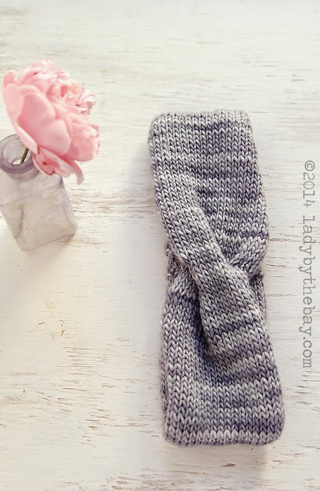 Twisted Headband Knitting Pattern Lady By The Bay