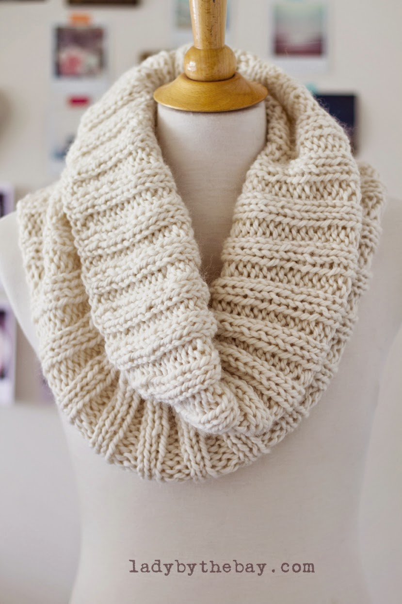 Knitting Joining Yarn In The Round : Cozy ribbed scarf pattern — lady by the bay