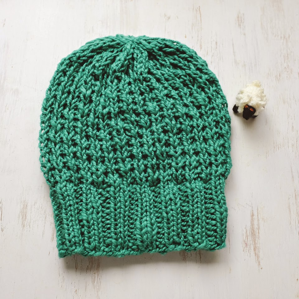 Lady by the Bay - Knitted Slouchy Broken Rib Hat