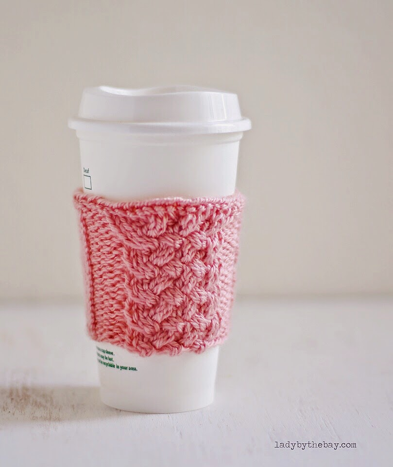 Lady by the Bay - Cabled Mug Cozy Knitting Pattern