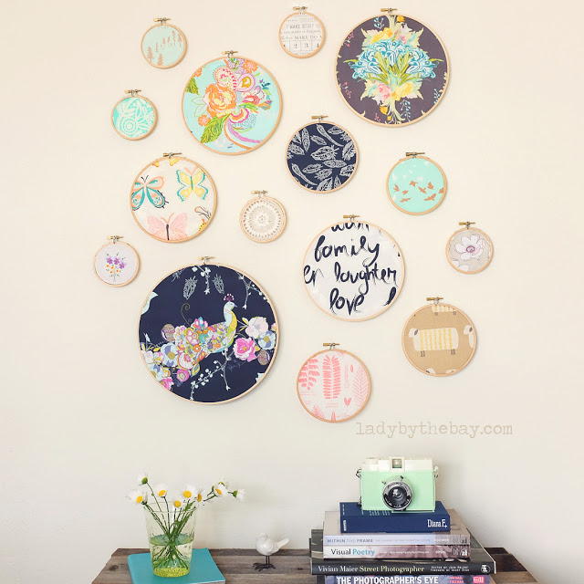 Lady by the Bay - DIY Embroidery Hoop Wall Art