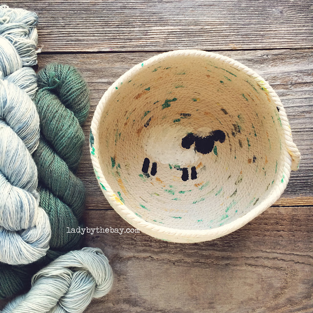 Lady by the Bay - Handmade Hand Painted Rope Baskets