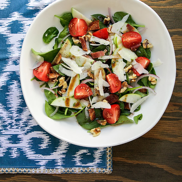 spinach salad with apples and walnuts recipe