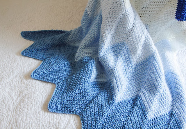 Crocheted Chevron Baby Blanket Pattern Lady By The Bay