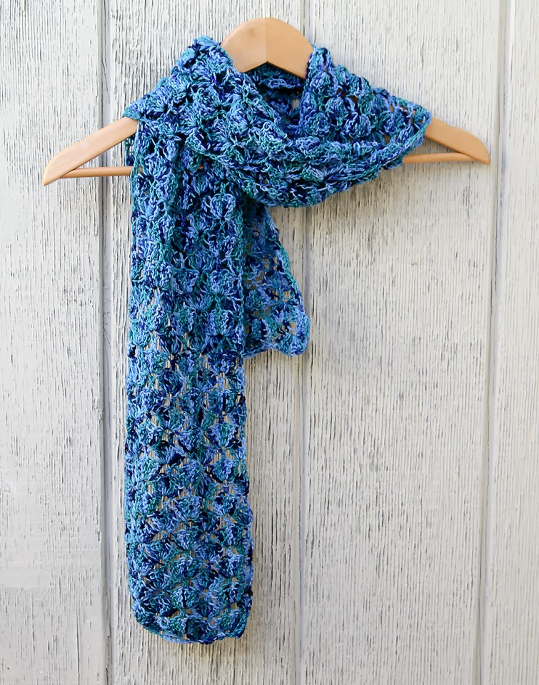 Crochet Lace Scarf - Lady By The Bay