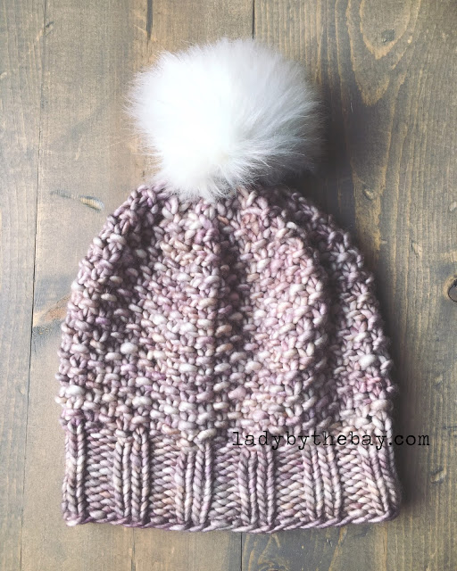 Seedmoss Stitch Knitted Hat Pattern Lady By The Bay