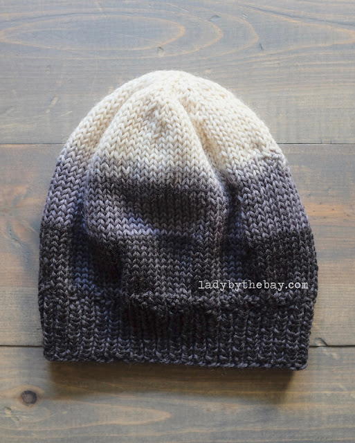 Lady by the Bay Ombré Knit Hat Pattern