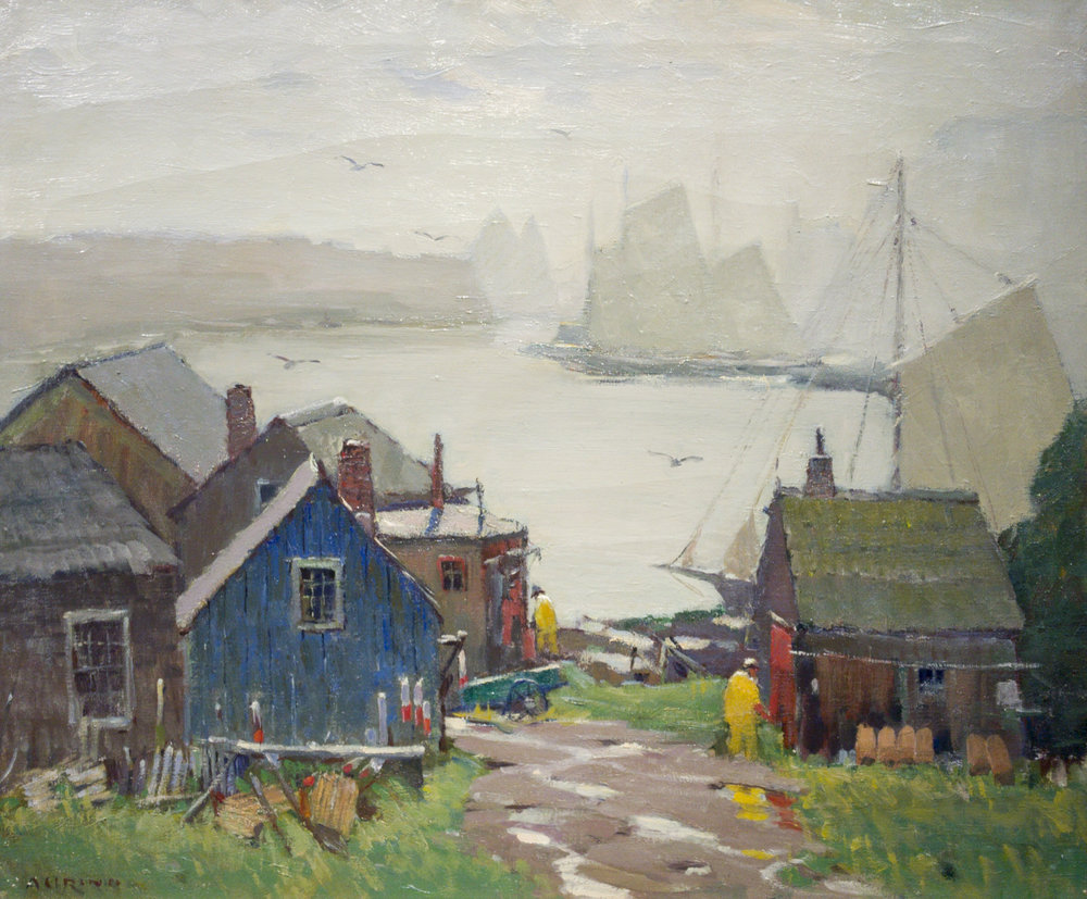 "RAA Auction 2018 Antonio Cirino (1888-1983), ""Fog and Rain,"" oil on canvas, 25 x 30"""
