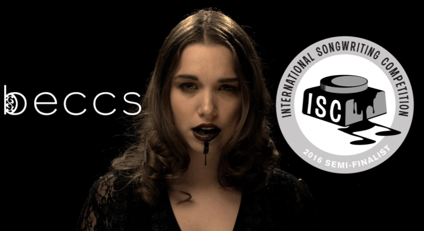 "Out of 16,000 entries from musicians around the world, only 10% are chosen. beccs' original song ""Therapy"" was selected for two categories: best performance and best music video."