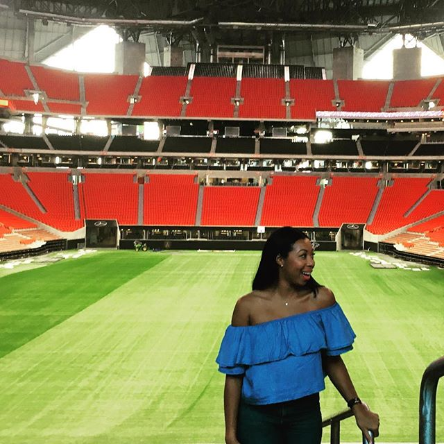 New Stadium. Who Dis?  VIP Suite Unveiling at @mercedesbenzstadium 🌈