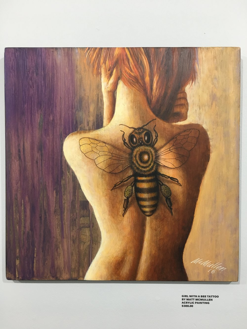 GIRL W/THE BEE TATTOO $250