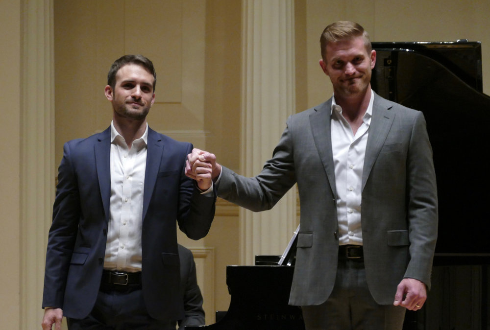 In recital with Jarrett Ott, Weill Recital Hall, 2018.