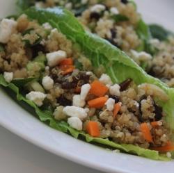 lettuce quinoa cups