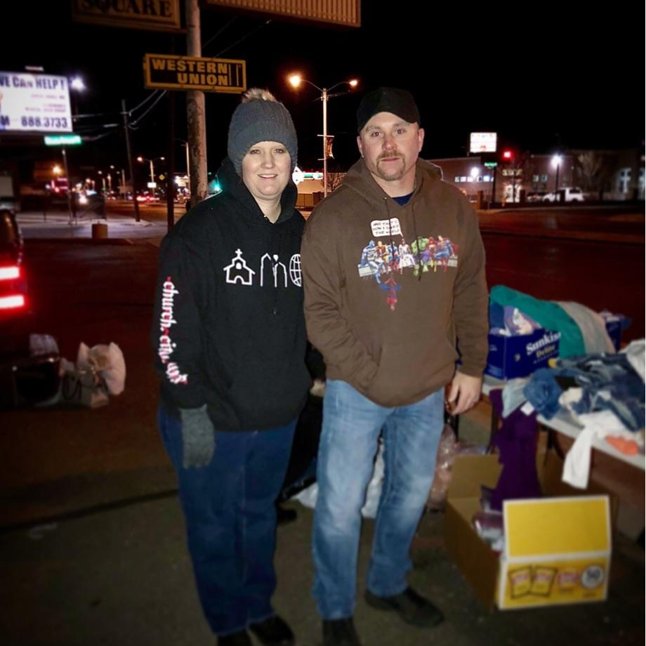 Street Ministry -Jennifer and Jason Lohmann - Fridays - Men and Women - No childcare5:30pm - 9:30pm, Copper Pointe ChurchWe meet every other Friday at 5:30pm at the Copper Pointe Church to start with to prep items to hand out on Central. Then around 6:30pm we head out to Central and hand out hygiene bags and food items to people on Central. Depending on how fast we hand out items will depend how long we are out for that night. You will be responsible for your own meal when we meet for the debrief. Also you must go through training before you can go out on the streets. No Childcare provided.