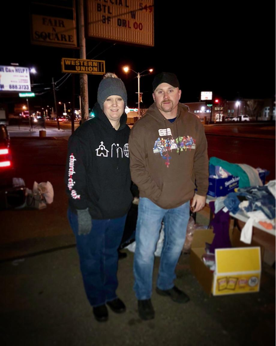Street Ministry - Jen and Jason Lohmann - (Men's and women's) - No childcareFridays, 5:30pm - 9:30pm, Copper Pointe ChurchWe meet every other Friday at 5:30pm at the Copper Pointe Church to start with to prep items to hand out on Central. Then around 6:30pm we head out to Central and hand out hygiene bags and food items to people on Central. Depending on how fast we hand out items will depend how long we are out for that night. You will be responsible for your own meal when we meet for the debrief. Also you must go through training before you can go out on the streets. No Childcare provided.