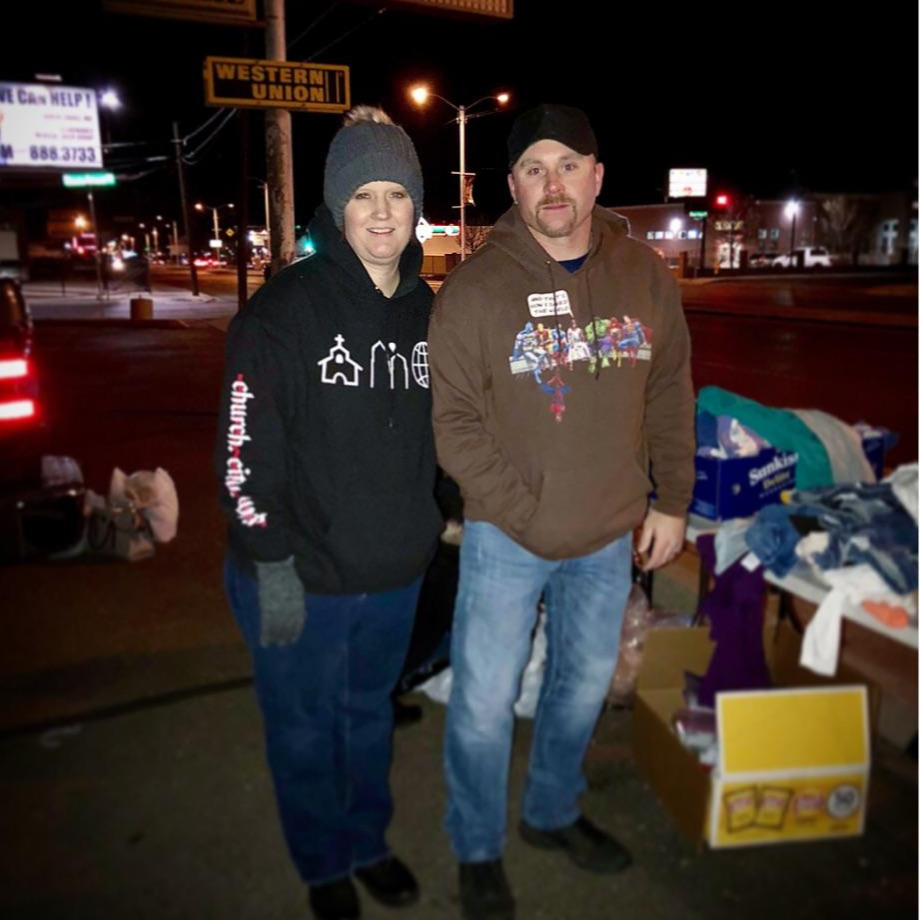 Streets Ministry - Jason and Jennifer Lohmann - Fridays at 5:45pm, Copper Pointe ChurchEvery Friday evening, the streets team goes out onto Central to provide for the homeless, the less fortunate, and the stricken. They are able to provide toiletries, food, and information on helpful organizations in the city. Nobody under 13 is permitted.