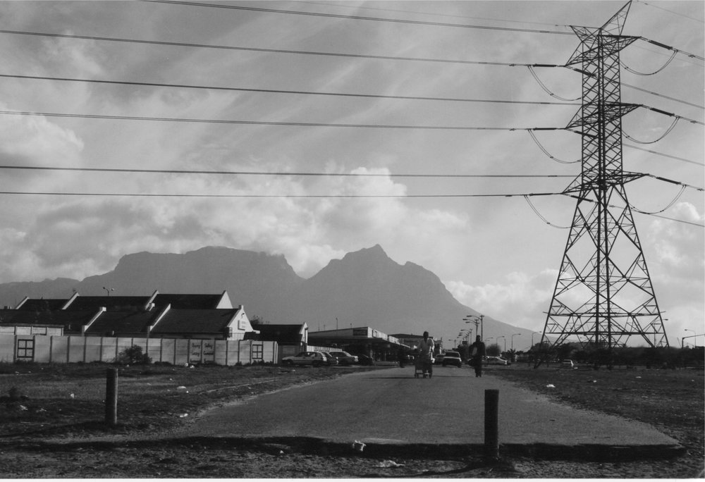 image of table mountain taken on the cape flats