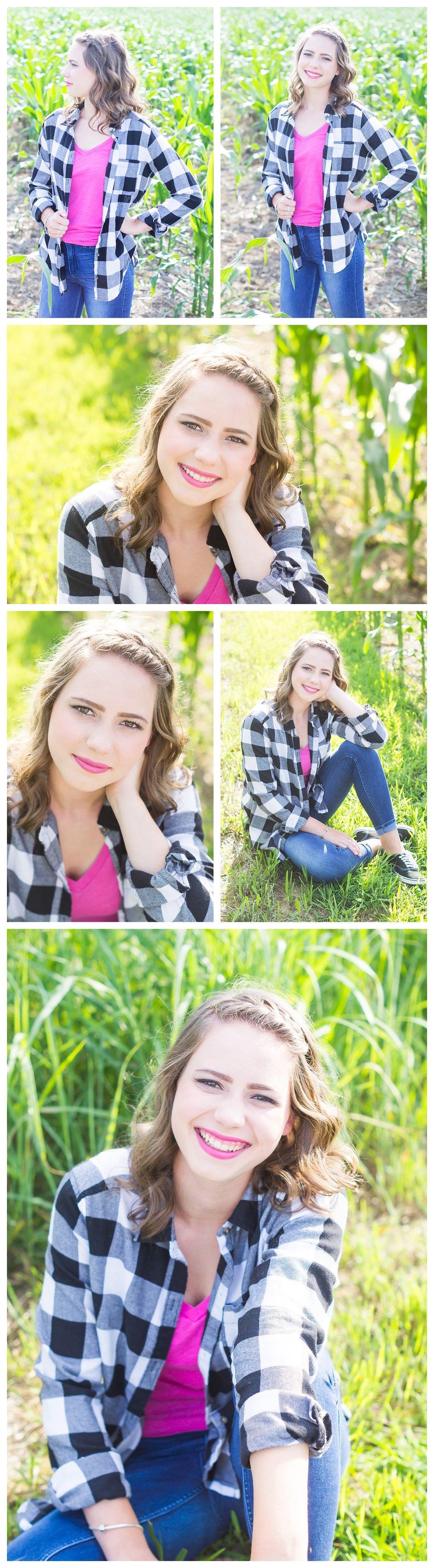 senior pictures corn field pennsylvania