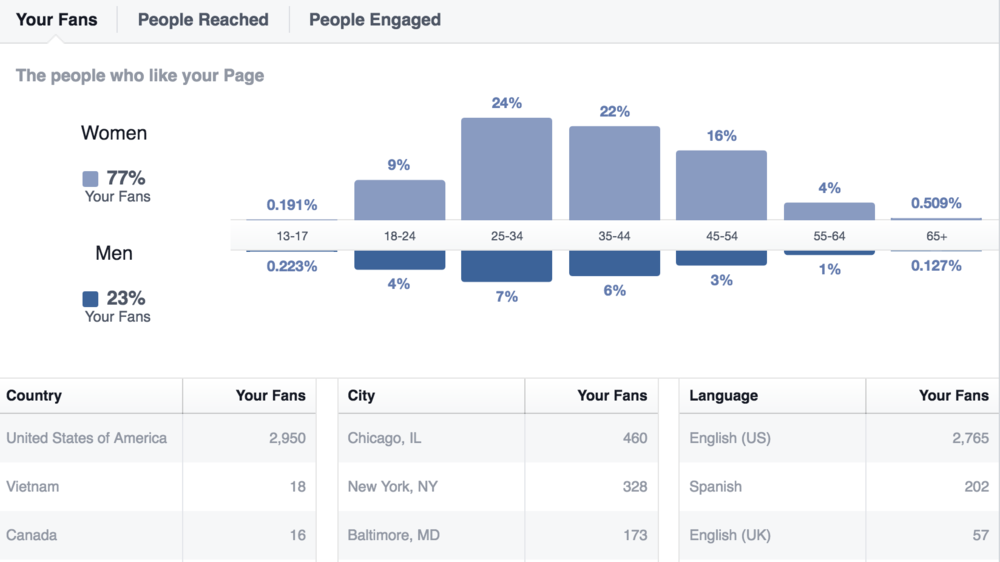 What's interesting to note is that our Facebook audience data differs drastically from the audiences on our other social networks and the audience that uses our widget. Tailor your posts accordingly.