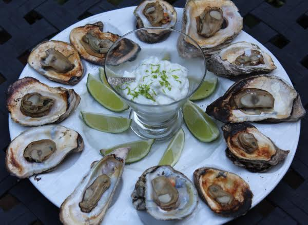Seafood Grill (Oysters) by Lisa Newsome Entertaining is Easy - Chicory Blog