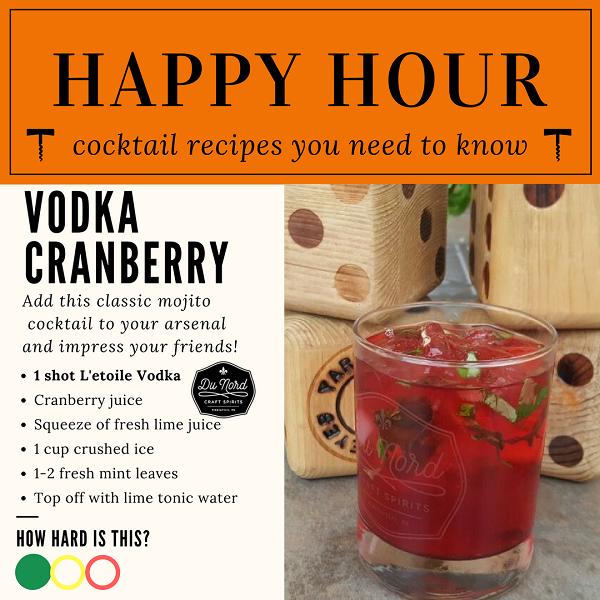 Stillwater Liquor Vodka cranberry