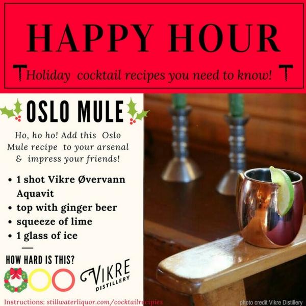 Oslo Mule Vikre Aquavit Stillwater Liquor