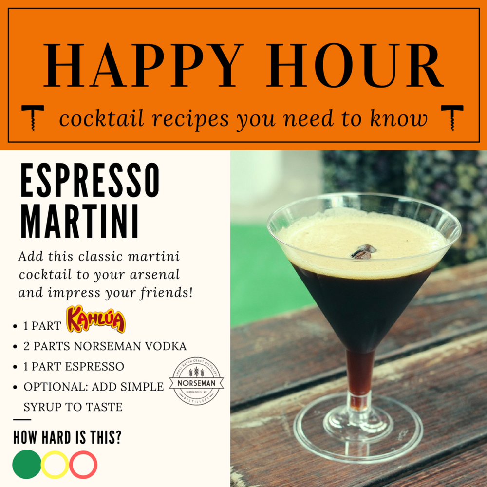 Espresso Martini with Norseman Vodka