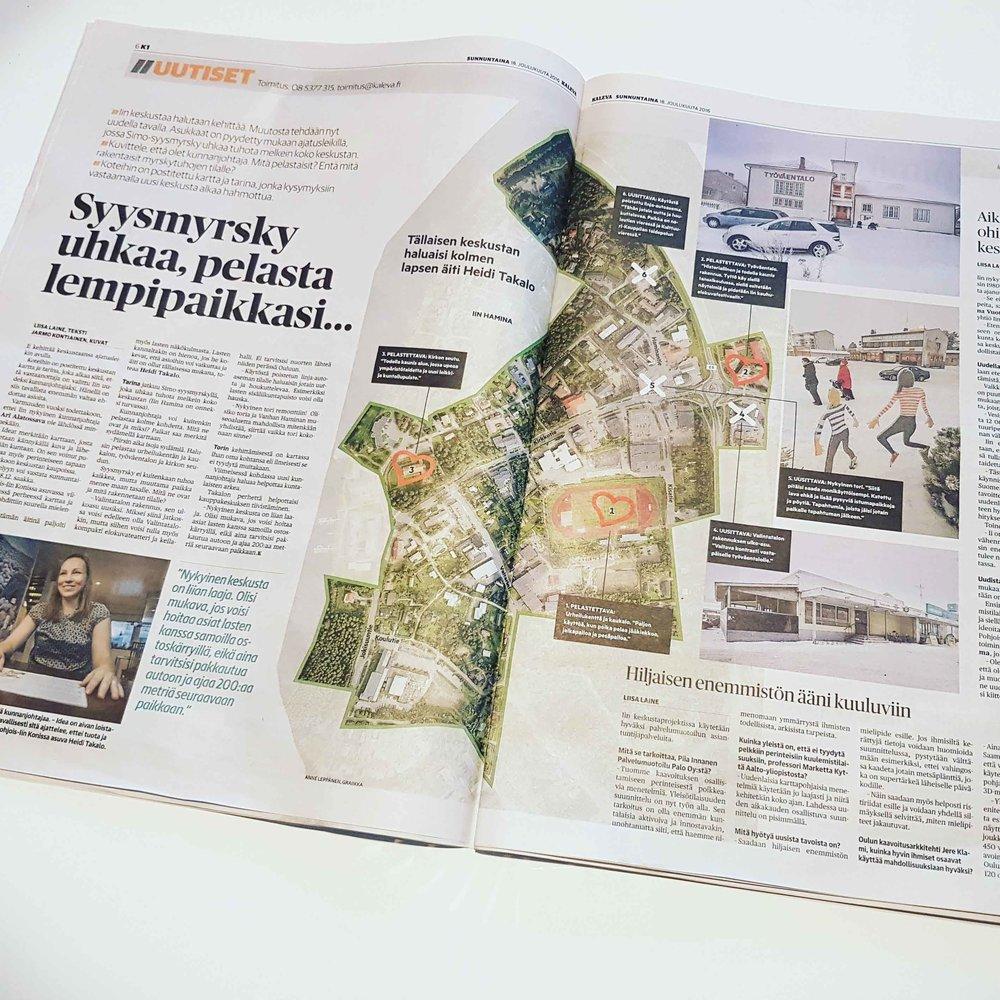 Kaleva uutisoi karttakyselystä syksyllä 2016