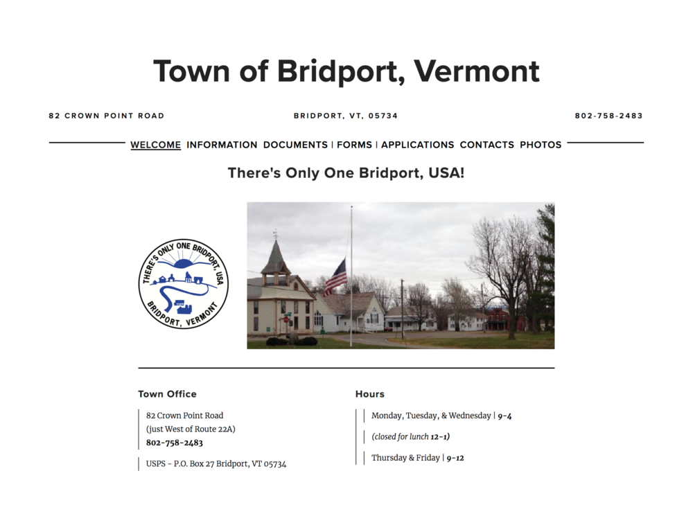 Town of Bridport Vermont
