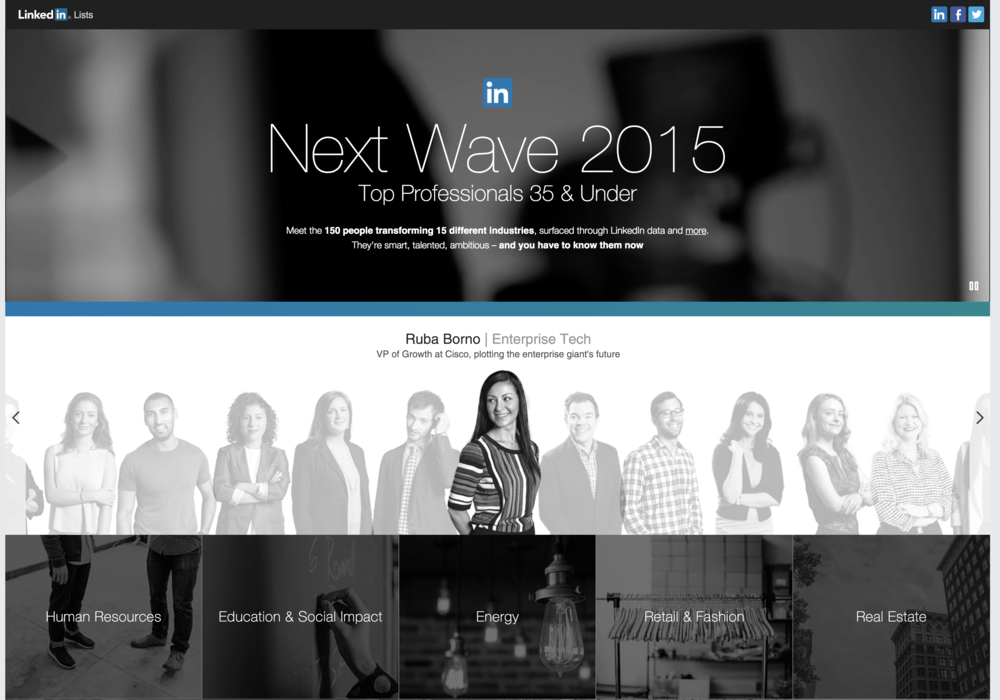 LinkedIn Next Wave 2015 List