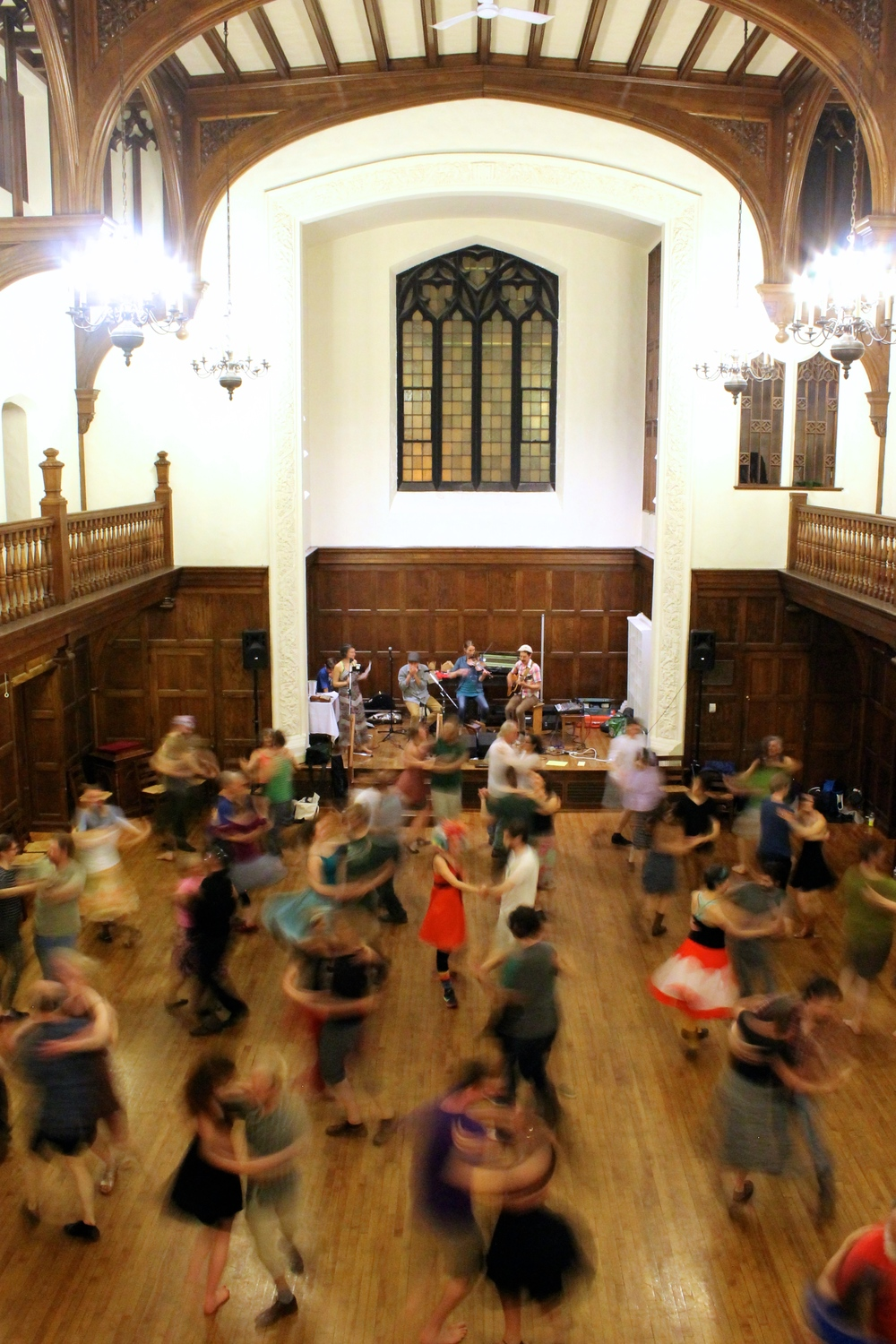 Image of April 21, 2016 Portland Intown Contra Dance by Naomi Marthai.