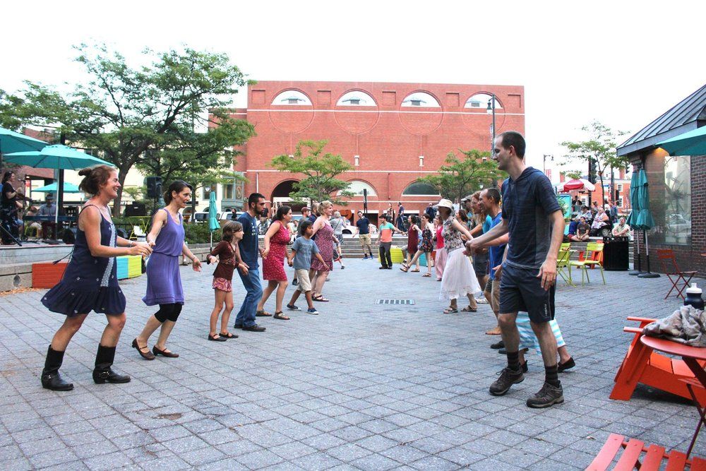 Contra Dancing in Congress Square Park 2017