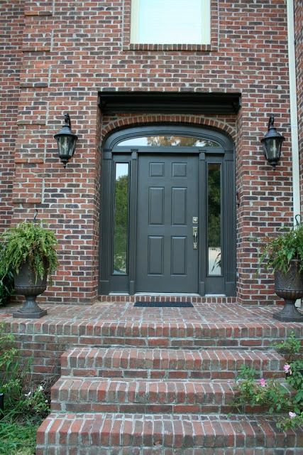 Front Door: Wrought Iron by Benjamin Moore