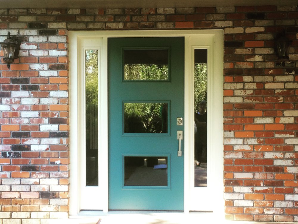 Turquoise Blue Front Door Paint Color |  colormoxie