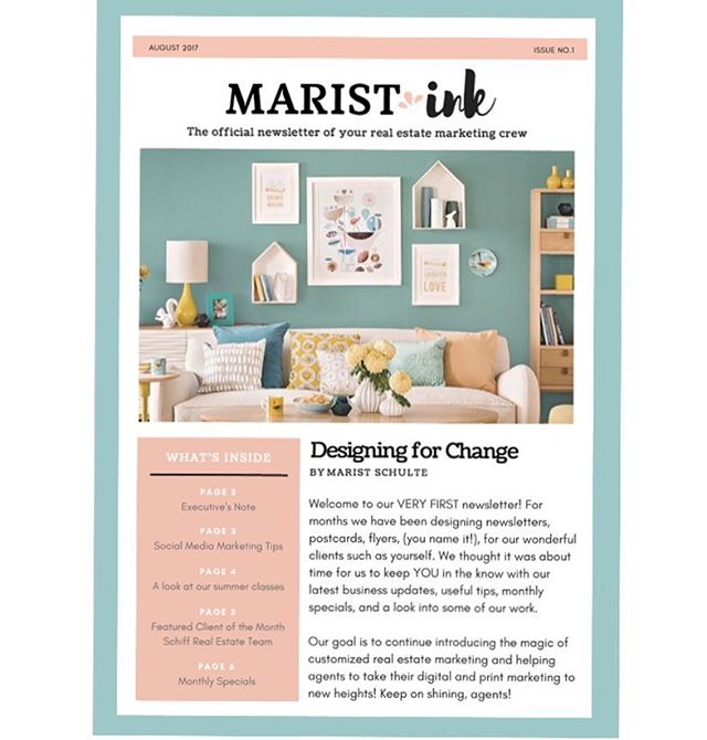 Our FIRST newsletter is out 🙈✨ link in bio! Check it out 🔜 #realestate #realestatemarketing #MaristInc #socialmediatips #marketing #marketingconsultant #socialmedia #girlboss #newsletter #design #branding #entrepreneur #businesswoman #business #startup #realtor #realestateagent