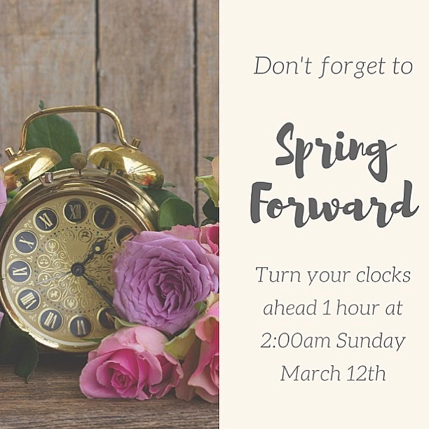 Don't forget | Spring forward! 🌸🕰