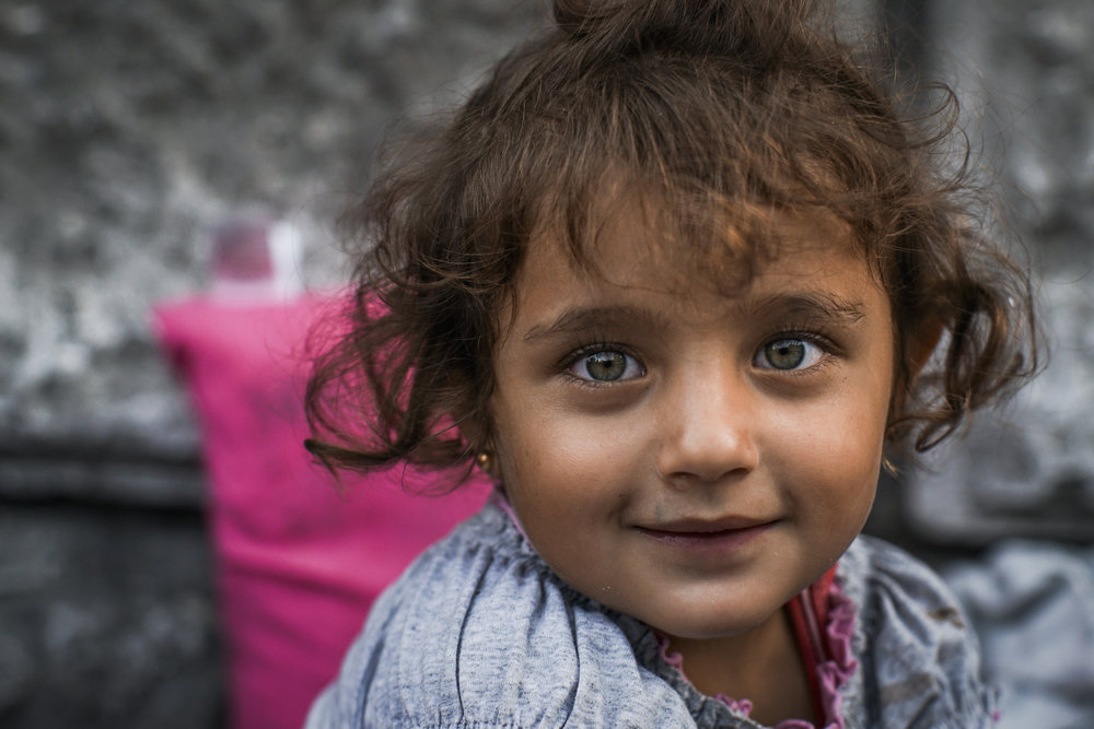 This little girl from Syria, is now a refugee in Europe.