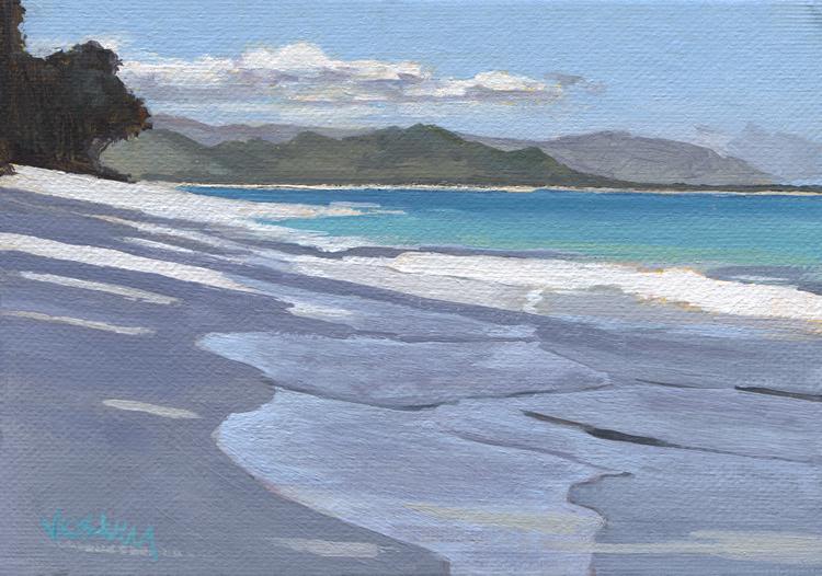 Kailua Beach Oahu Hawaii Tropical Original Landscape Painting 7 X 5