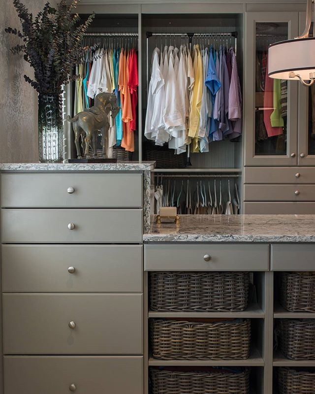 Another shot of the beautiful closet from our last post!  Follow us for more interior inspiration!  #interiors #decorator #kitchen #kitchens #design #interiordesign #interior123 #wolf #subzero #homedecor #decor #styletips #northernvirginia #warrenton #warrentonva #kitchenremodel #interiorstyling #closet #closets #closetenvy