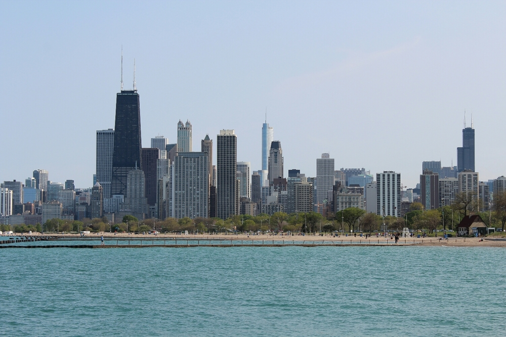 View of Chicago from Lakeview