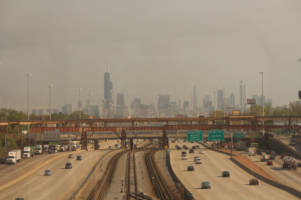 Chicago View from Amtrak Capitol Limited