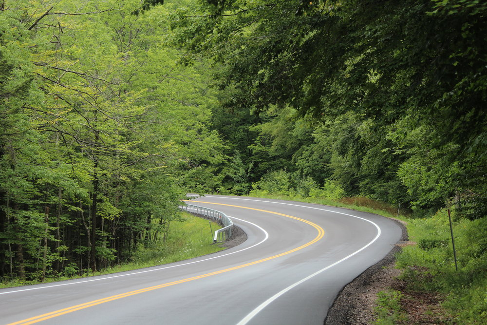 Steep climb to Middlebury Gap in Vermont