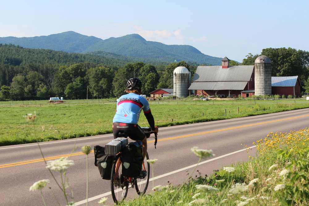 Cycling route 100 in Vermont