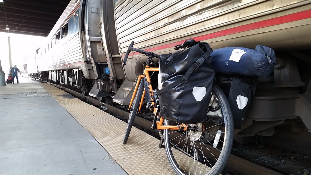 Bike on Amtrak Vermonter