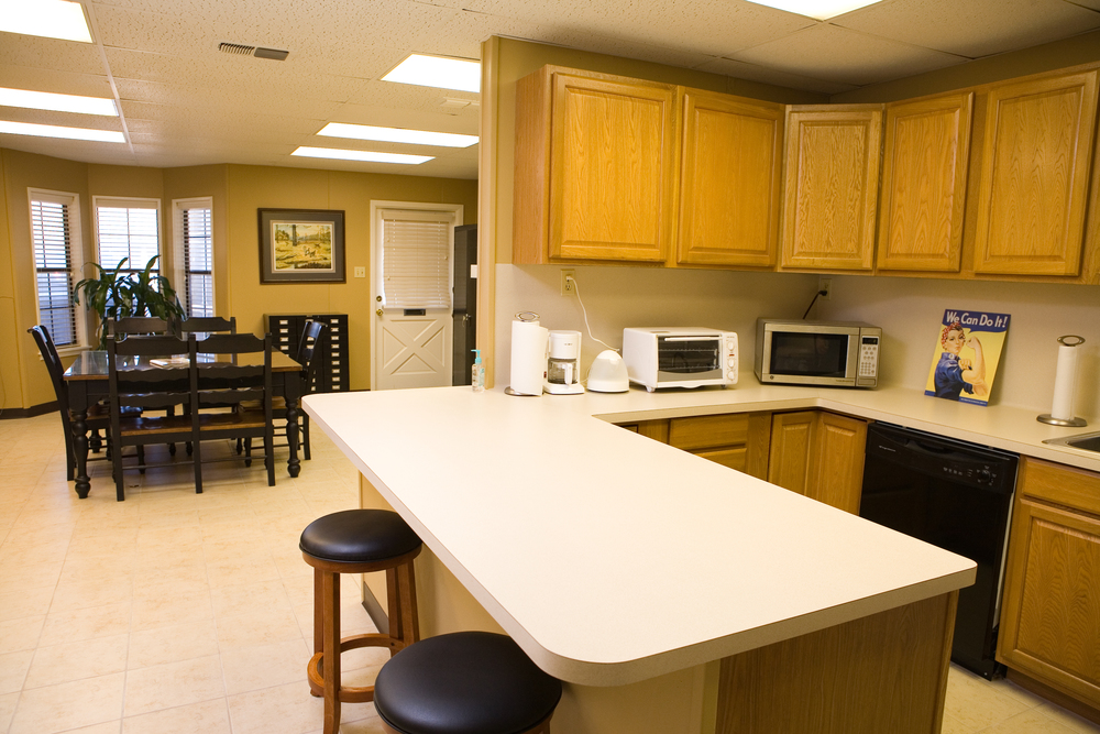 Office Break Room Design - Commercial Design Services by Ambiance - Jill Ornelas