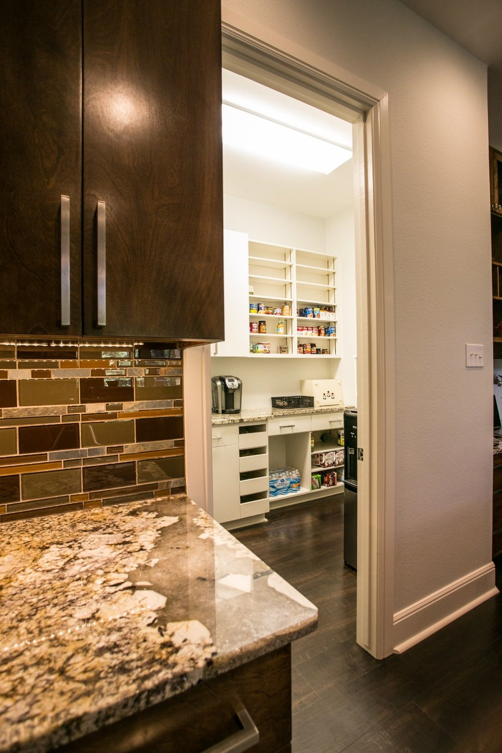 Walk in pantry with storage - Ambiance Interiors Texas
