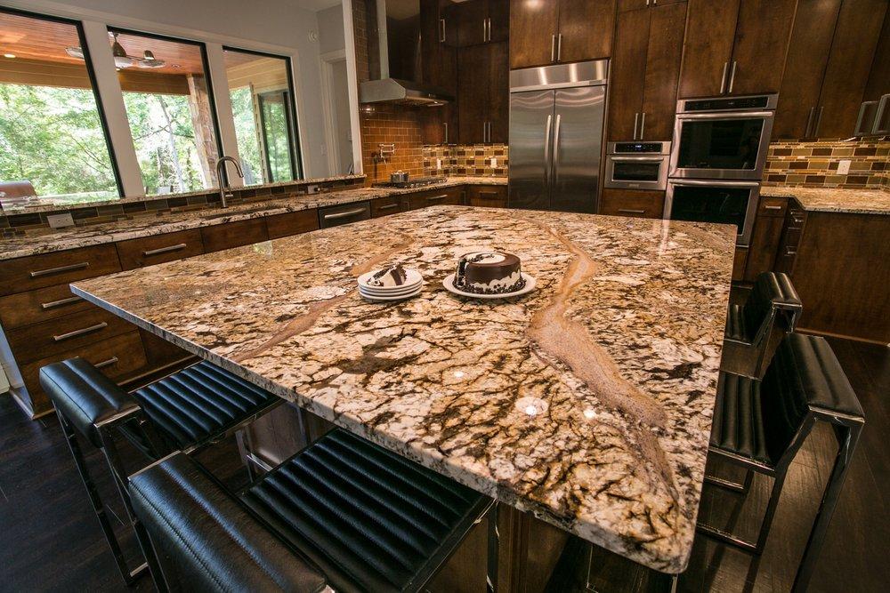 large kitchen island - total dream kitchen makeover by Ambiance Interior Design